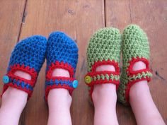 been in love with crocheted slippers since 2007