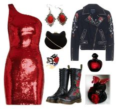 """""""Valentines Day"""" by sunako-nakahara ❤ liked on Polyvore featuring Yves Saint Laurent, Dr. Martens, True Religion and New Look"""
