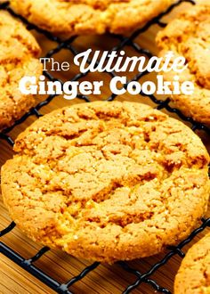 This ginger cookie recipe with crystallized ginger is THE Ultimate Ginger Cookie recipe. You will never make them without crystallized ginger again. Mason Jar Cookie Recipes, M&m Cookie Recipe, Mason Jar Cookies, Best Cookie Recipes, No Bake Desserts, Dessert Recipes, Best Christmas Cookie Recipe, Ginger Snap Cookies, Home Baking