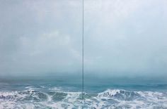 Annie Wildey Crest V diptych, oil in canvas Cate Charles Gallery, Providence, RI
