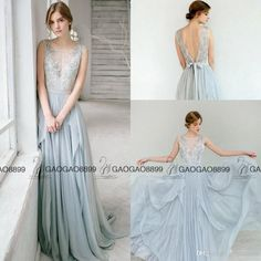 Carousel Fashio Dusty Blue Lace Dreamy Long Elegant Evening Formal Party Dresses 2017 Backless Boho Country Party Occasion Prom Gowns Evening Dress Designs Evening Dress Hire Uk From Gaogao8899, $110.56| Dhgate.Com