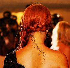 #tattoos #tattoo #famous #celebs #celebrities #navy #rihanna #rihanna_navy #stars #back #red #redhair #bajans #barbados #singer #pop #reggae #cute #fashion #body_art #neck #hair #braid #side_braid #photography
