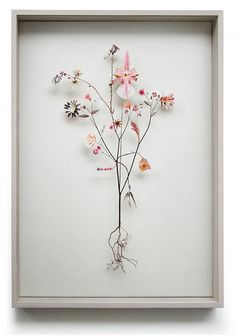 Anne ten Donkelaar Flower construction #43 (50 cm x 70cm x 6.5 cm)