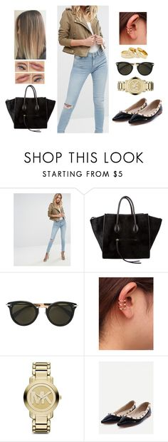 """Casual Walk"" by teodoramaria98 ❤ liked on Polyvore featuring River Island, CÉLINE, Michael Kors, WithChic and Sole Society"