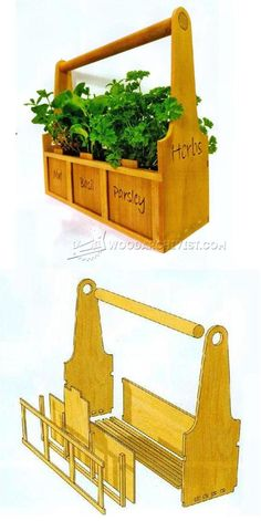 Herb Planter Plans - Woodworking Plans and Projects | WoodArchivist.com