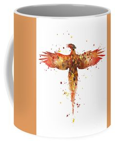 Fawkes Coffee Mug #watercolor #abstract #harrypotter #phoenix #mug
