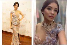 #kebaya #indonesia Kebaya Lace, Kebaya Hijab, Kebaya Brokat, Kebaya Dress, Batik Kebaya, Batik Dress, Hijab Dress, Lace Dress, Indonesian Kebaya