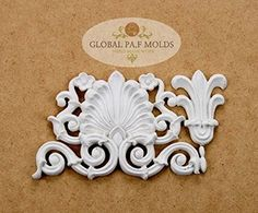 Vintage Trims Mold 76765 Sugarcraft Molds Polymer Clay Cake Border Mold Soap Molds Resin Candy Chocolate Cake Decorating Tools. PA.F MOLDS silicone mold is easy to release (no need for a releasing agent). So After you have pressed your sugarpaste into the mold, you can simply pop the piece out by gently holding the mold with your fingers The mold is suitable for all sugarcraft material. choclate, cupcake even soap material. Description MATERIAL : Silicone mold size:18x10.5cm COLOR : WHITE.