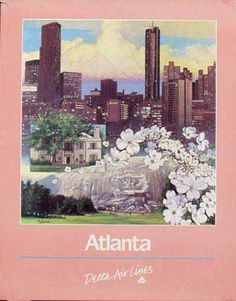 Delta Airlines Atlanta Original Vintage