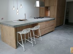 Great Ikea Kitchens With Wooden Doors From Koak Design [look At The Thickness Of  That Concrete Countertop!