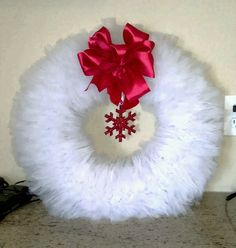 Christmas Tulle wreath