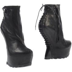 Cinzia Araia Ankle Boots found on Polyvore featuring polyvore, women's fashion, shoes, boots, ankle booties, black, lace up ankle boots, black lace up booties, leather ankle boots and laced up ankle boots