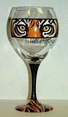 Clemson wine glass