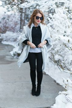 15 Favorite Outfits of 2015 Winter Outfit For Teen Girls, Winter Outfits For Work, Winter Dress Outfits, Casual Dress Outfits, Sweater Layering, Layering Outfits, Winter Office Wear, Plus Size Leggings, Winter Wonderland
