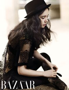 Han Ga In Is On The Tips Of Her Toes For Harper's Bazaar Korea's November 2013 Issue | Couch Kimchi