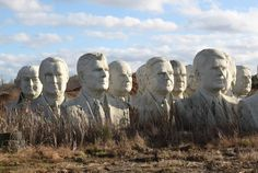43 Giant, Crumbling Presidential Heads - 8212 Croaker Rd Williamsburg, Virginia