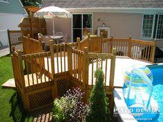 1000 images about patio de bois on pinterest decks for Construire deck piscine