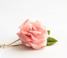 """Pink rose brooch polymer clay flower - """"PINK ROSE""""-Polymer clay jewelry, brooch, gift,  rusteam"""