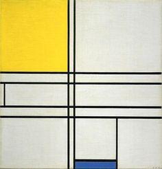 Piet Mondrian Composition with Blue and Yellow (Composition Bleu-Jaune), 1935