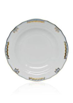 Herend Princess Victoria Light Blue Dessert Plate - White - One Size