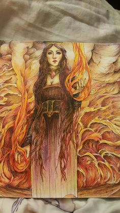 Game of thrones coloring book <red woman> <Melisandre>