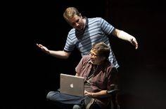 Ben Platt and Will Roland as Evan Hansen and Jared Kleinman in Dear Evan Hansen
