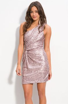 As U Wish One Shoulder Sequin Knot Dress (Juniors) Knot Dress, Dress Skirt, Dress Up, Pink Dress, Wrap Dress, Pretty Outfits, Pretty Dresses, Beautiful Dresses, Sparkly Dresses