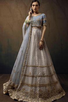 ✅Bridal Engagement Lehenga | Punjaban Designer Boutique 👉 📲 CALL US : + 91 - 918054555191 --------------------------------------------------- #lehenga #bridallehenga #trendinglehenga #collaboration #fashionstyle #designer #partywear #canada #indianwedding #royalwedding #bridesofindia #weddingdress #unitedkingdom #usa #australia #newzealand #germany #weddingvibes #newcollection #ethnicwear #bride #rightchoice #fashionstyle #punjabiwedding #wedding2021 Pakistani Gharara, Pakistani Bridal Dresses, Bridal Lehenga, Heavy Lehenga, Blue Lehenga, Lehenga Blouse, Nikkah Dress, Tangerine Color, Bridal Dresses Online