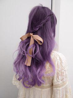lavender hair   Purple ombre hair
