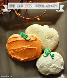 The perfect sugar cookie and buttercream frosting recipe - from Grandma's recipe box.
