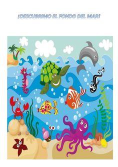 UNIDAD DIDÁCTICA: ¿QUÉ HAY BAJO DEL MAR? Temporización: 1 de mayo/ 15 de mayo. ¿QUÉ VAMOS A CONSEGUIR? Como producto final... Room Wall Painting, Easy Drawings, Kids Rugs, Mayo, Google, Water, Craft, Sea Drawing, Color Sheets