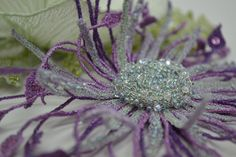 Sue Rangeley - Applique Corsages attached : Machine embroidered lace tendrils of an evening corsage