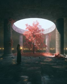 Infinite Solstice by Beeple on This artwork really caught my attention. I love the contrast between the light and dark. Help support this artist by checking out their work! Fantasy Concept Art, Fantasy Artwork, Fantasy Places, Fantasy World, Fantasy City, Fantasy Castle, Fantasy Setting, Fantasy Kunst, Environment Concept