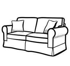 Bildergebnis f r sofa gezeichnet schablonen muster for Sofa zeichnen