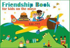 Friendship Book for kids on the move von HappySoLuckyShop auf Etsy, €15.00