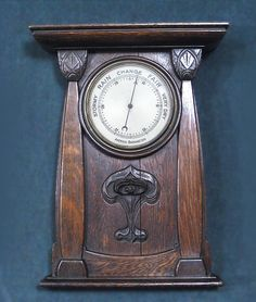 Qualified Beautiful Antique Wood Carved Barometer Thermometer 1890 Barometers Science & Medicine (pre-1930)