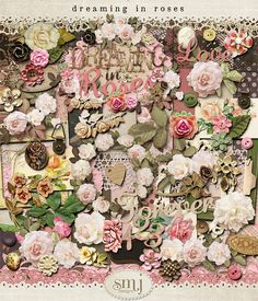 Dreaming in Roses Scrapbook Pages, Scrapbooking, Beautiful Roses, Yandex, Collages, Vintage World Maps, Shabby, Victorian, How To Make
