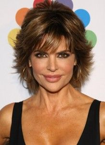 Lisa Rinna Layered Razor Cut for Women Over 50