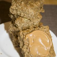 Healthy, quick breakfast: Peanut Butter Banana and oatmeal squares.   Delicious and easy! I make them often!