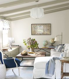 In A Renovated Family Room New Window Seats Also Function As Storage For Blankets And Toys Sectional Sofa By Mitchell Gold Bob Williams Mingles With