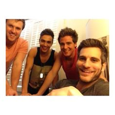 aww their smiles :) and helloooo joey in a muscle shirt and caleb as well aye ;)