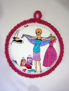 wall art for girls Fancy Lady  Fabric Picture in a by shusha64, $15.00