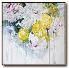 Abstract Flower Oil Painting #LX69A #Abstract #Artists_Lin-Xiang #flower-oil-painting