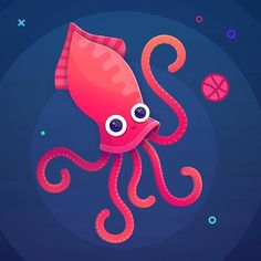 It's time to draw something in color :) #illustration #art #dribbble #octopus #vector #instaart #happy #sealife #characterdesign