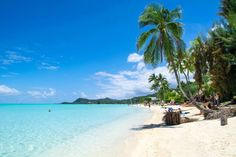Matira Beach in Bora Bora is such an incredible paradise. If you're visiting the island make it a point to stop by for a day of relaxing on this white sandy beach with the clearest water. | boraboraphotos.com