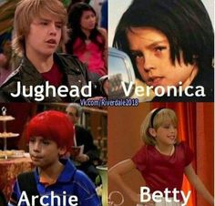 Memes Riverdale, Bughead Riverdale, Riverdale Funny, Cast Of Riverdale, Cole Sprouse Funny, Dylan Sprouse, Riverdale Betty And Jughead, Cole Spouse, Zack Y Cody