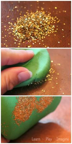 Simple trick for cleaning up glitter