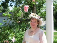 """Christy...one of the many """"Victorian"""" lawn party guests over the decades.  (Prospect Valley Hospitality renovated historic 1872 property, Wheat Ridge, Colorado, USA)"""