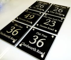 House Number Sign 36... the ideal sign for your 'Flat'. Property Developer? we have all the signs you need take a look www.de-signage.com