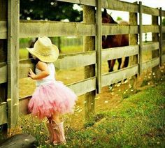 If my daughter is anything like me ...she will be getting dirty in the horse pasture ....nothing better then the smell of a sweaty horse